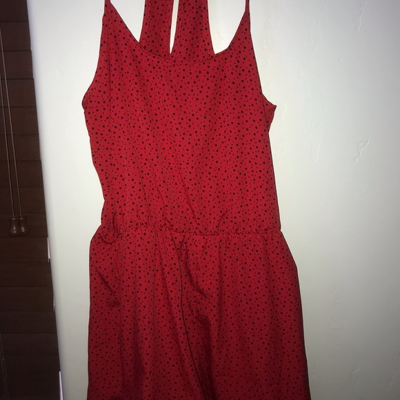 City Streets Other - Red polka dot romper